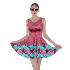 Coral Hawaii Skater Dress by cowcowclothing