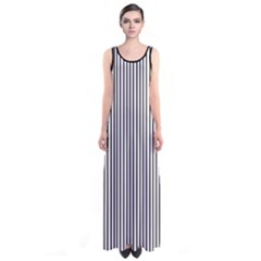 Black Vertical Stripes Sleeveless Maxi Dress by CoolDesigns