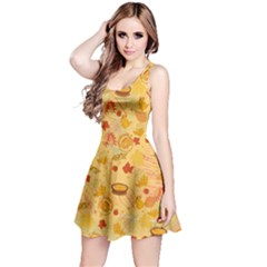 Fruits Leaves  Reversible Sleeveless Dress by CoolDesigns
