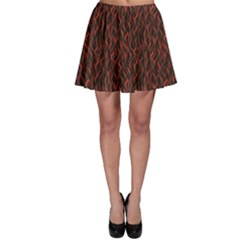 Dark Red Flame Hell Fire Seamless Skater Skirt by CoolDesigns