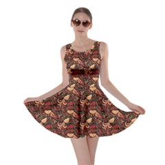 Red Pattern In The Russian Traditional Style Skater Dress by CoolDesigns