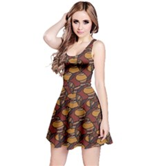 Brown African Ethnic Colorful Pattern Sleeveless Skater Dress by CoolDesigns