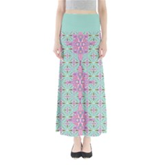 Mint Tribal 2 Maxi Skirt by CoolDesigns
