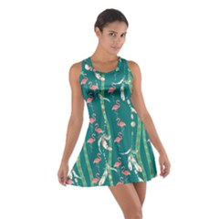 Green Tribal Cotton Racerback Dress by CoolDesigns