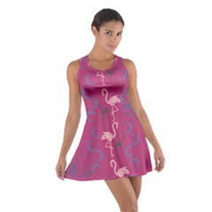 Flamingo Magenta 2 Cotton Racerback Dress by CoolDesigns