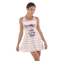 Pink Stripes Cotton Racerback Dress by CoolDesigns