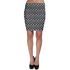 Black Day Of The Dead Sugar Skull Bodycon Skirt by CoolDesigns