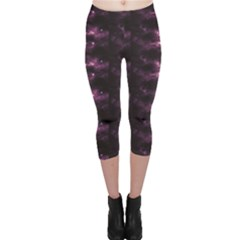 Dark Photorealistic Galaxy Design Capri Leggings by CoolDesigns