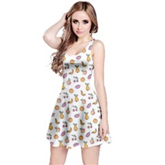 Colorful Hand Drawn Fruits Collection Pattern Sleeveless Dress by CoolDesigns