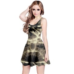 Beige Tie Dye Sleeveless Dress by CoolDesigns