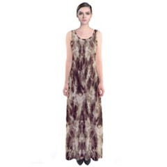 Brown Tie Dye Sleeveless Maxi Dress by CoolDesigns