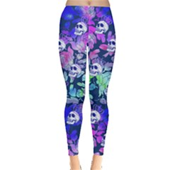 Skull Purple Fantasy Leggings  by CoolDesigns