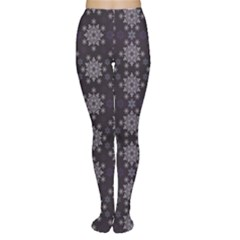 Blue Snowflake Dark Blue Women s Tights by CoolDesigns
