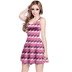 Pink Elegance Pattern Pink Flamingo and Wings Reversible Sleeveless Dress by CoolDesigns