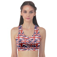 Red Pattern Of British Flag Women s Sport Bra by CoolDesigns