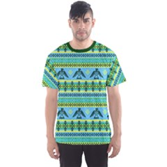 Light Blue Eagles Tribal Native American Men s Sport Mesh Tee by CoolDesigns