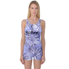 Purple Tie Dye One Piece Boyleg Swimsuit by CoolDesigns