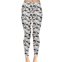 Gray Vintage Whale Women s Leggings by CoolDesigns