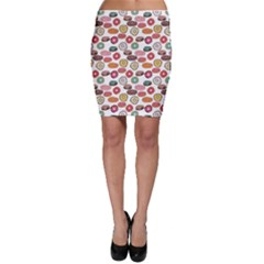 Colorful Donuts Pattern Bodycon Skirt by CoolDesigns