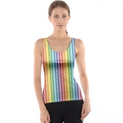 Colorful Striped Rainbow Pattern With Colorful Butterflies Tank Top by CoolDesigns