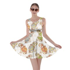 Colorful Indian Elephant Pattern Skater Dress by CoolDesigns