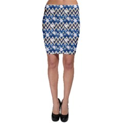 Blue Modern Hawaiian Camouflage Shirt Pattern Bodycon Skirt by CoolDesigns