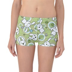 Green Pattern With Doodle Kawaii Boyleg Bikini Bottoms by CoolDesigns