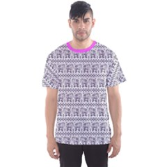 Purple Ethnic Vintage Elephant Business Men s Sport Mesh Tee by CoolDesigns