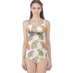 Colorful Indian Elephant Pattern Women s One Piece Swimsuit by CoolDesigns