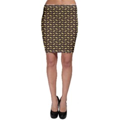 Brown Image Of Sharks And Underwater Masks Bodycon Skirt by CoolDesigns