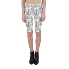 Gray With London S Big Ben Stylish Design Cropped Leggings by CoolDesigns