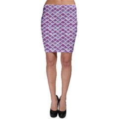 Purple Watercolor Retro Fish Scales Texture Pattern Bodycon Skirt by CoolDesigns