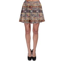 Brown In The African Style Skater Dress by CoolDesigns