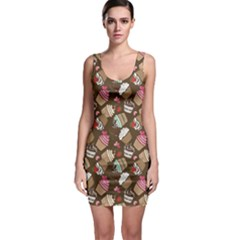 Colorful Pattern Of Tasty Cupcakes Bodycon Dress by CoolDesigns
