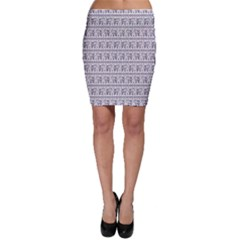 Purple Ethnic Vintage Elephant Business Bodycon Skirt by CoolDesigns