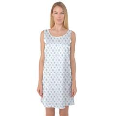 Gray Of Pattern With Seashells Sleeveless Satin Nightdress by CoolDesigns