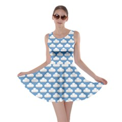 Blue Cute Cloud Pattern Skater Dress by CoolDesigns