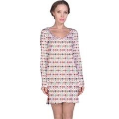 Brown Hot Air Balloon Pattern Long Sleeve Nightdress by CoolDesigns