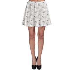 Gray Pattern Airplanes in the Clouds Skater Skirt by CoolDesigns