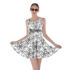 Black Atom Pattern Skater Dress by CoolDesigns