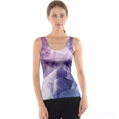 Blue Iridescent Blue Purple And Pink Pattern Tank Top by CoolDesigns
