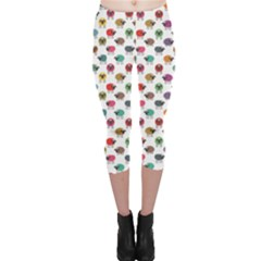 Colorful Colorful Sheep Pattern Sheep Pattern Capri Leggings by CoolDesigns