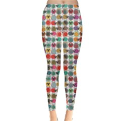Colorful Colorful Sheep and Yarn Balls Pattern Sheep Women s Leggings by CoolDesigns
