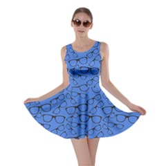 Blue Glasses Skater Dress by CoolDesigns