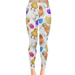 White Chick Leggings  by CoolDesigns
