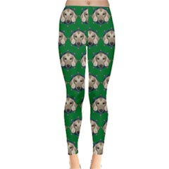 Dachshund Green Leggings  by CoolDesigns