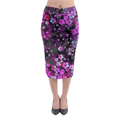 Magenta Hawaii Midi Pencil Skirt by CoolDesigns