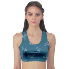 Turquoise Tyrannosaurus Sport Bra by CoolDesigns