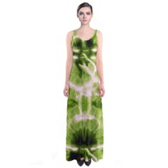 Olive Tie Dye Sleeveless Maxi Dress by CoolDesigns
