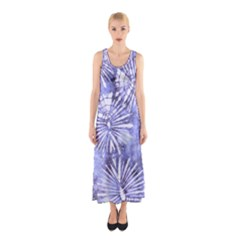 Purple Tie Dye Sleeveless Maxi Dress by CoolDesigns